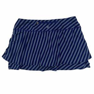 Athleta purple blue striped skort medium